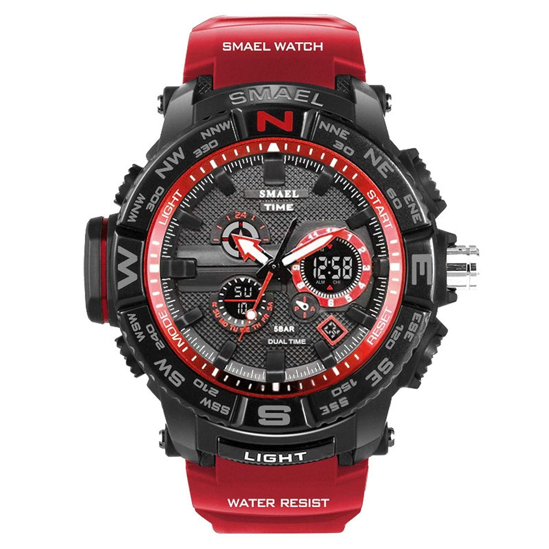 Blisfille Reloj para Bicicletas de Montañas Reloj Digital Mujer Rosa Reloj Hombre Elegante Reloj Acero Inoxidable Reloj Acero Dorado Hombre: Amazon.es: ...