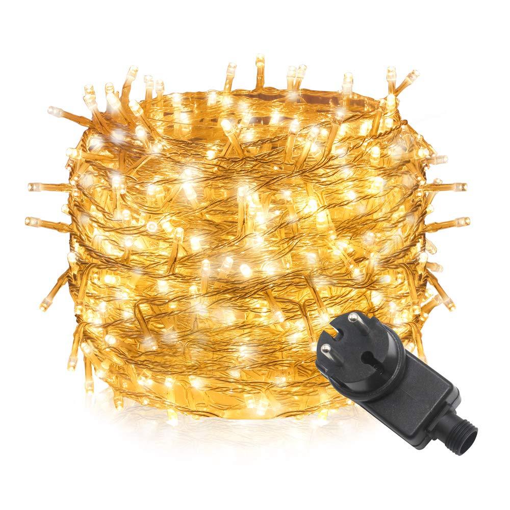 300 luci a fiaba LED a 30 m,Tersely luci fiabesche per interni e esterni per l'albero di natale Eventi per matrimoni (8 modalità di illuminazione, funzione di memoria) (bianco caldo) Profits Tech.