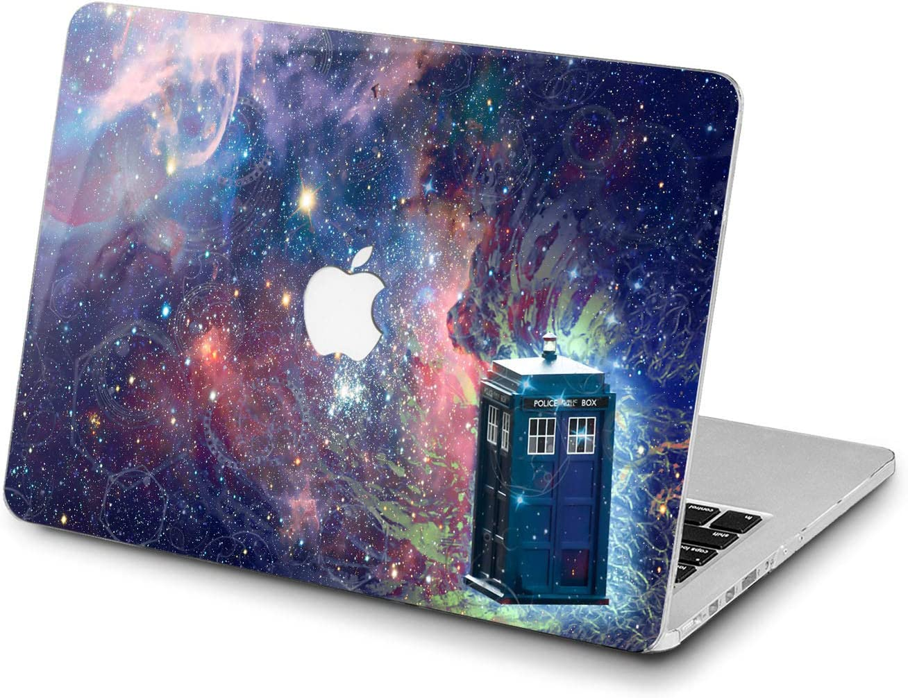 Lex Altern Hard Case for Apple MacBook Pro 15 Air 13 inch Mac Retina 12 11 2020 2019 2018 2017 2016 Women Movie Laptop Police Call Box Cover TV Show Plastic Protective Galaxy Touch Bar