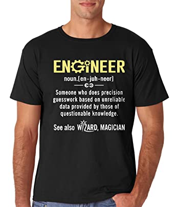 5d65994ab Amazon.com: AW Fashions Engineer - Funny Engineer Meaning - Funny  Definition Nerdy Science Geek Men's T-Shirt: Clothing