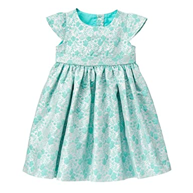 a6599e4d3 Gymboree Baby Girls' Toddler Mint and Silver Floral Jacquard Dress, Multi,  12-