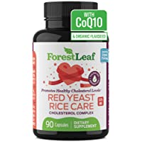 Red Yeast Rice Care with COQ-10 and Organic Flaxseed - Supports Cardiovascular Health...