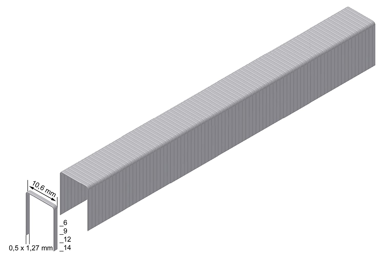 Prebena Heftklammer Type PF Abmessung : 14 mm