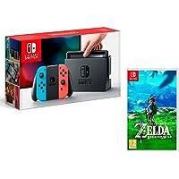 Nintendo Switch Oyun Konsolu, The Legend Of Zelda: Breath Of The Wild, Kırmızı/Mavi