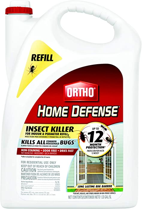 Ortho 0221910 071549022198 Home Defense Insect Killer for Indoor & Perimeter Refill, 1.33 GAL