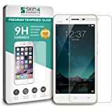 Vivo V3 Tempered Glass Screen Guard Protector Ultra Strong (9H)-Slim by Skin4Gadgets with Gift Card of Rs.200.