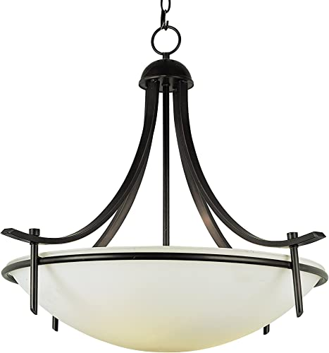 Trans Globe Imports 8178 ROB Transitional Four Light Pendant from Vitalian Collection Dark Finish, 32.00 inches, Rubbed Oil Bronze