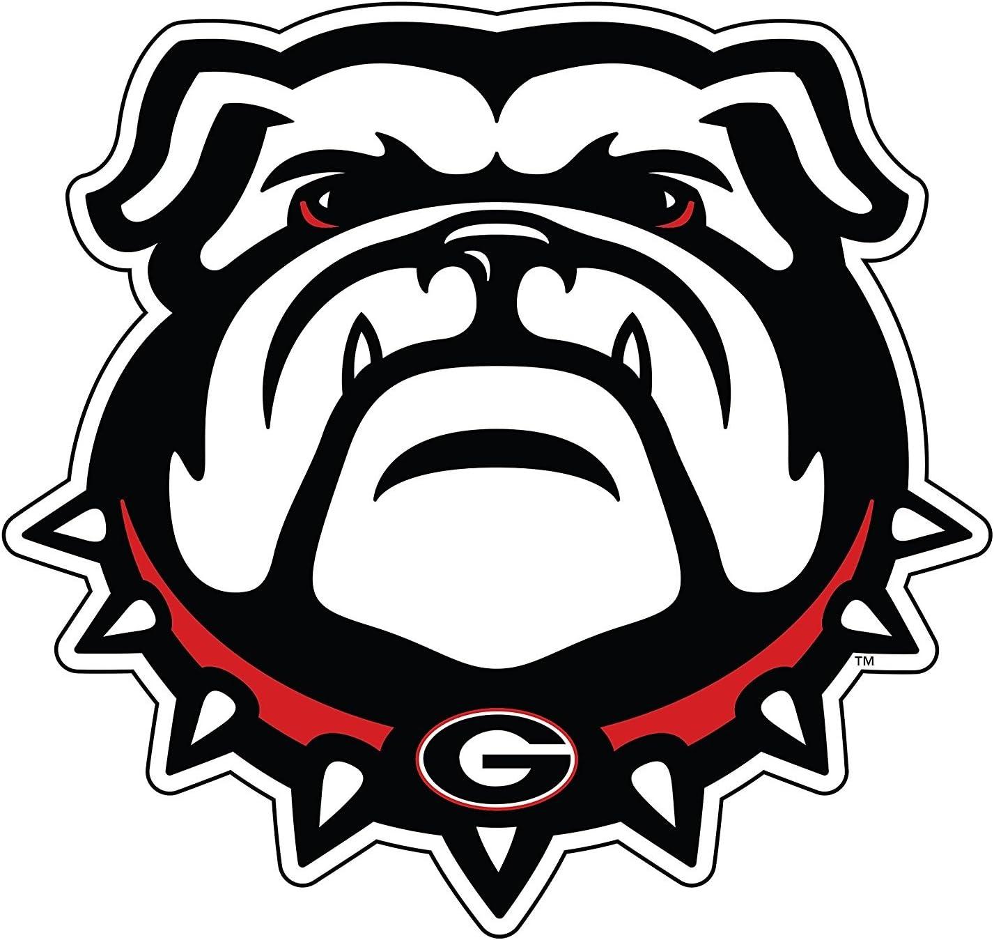 georgia bulldogs state shape logo with heart vinyl decal