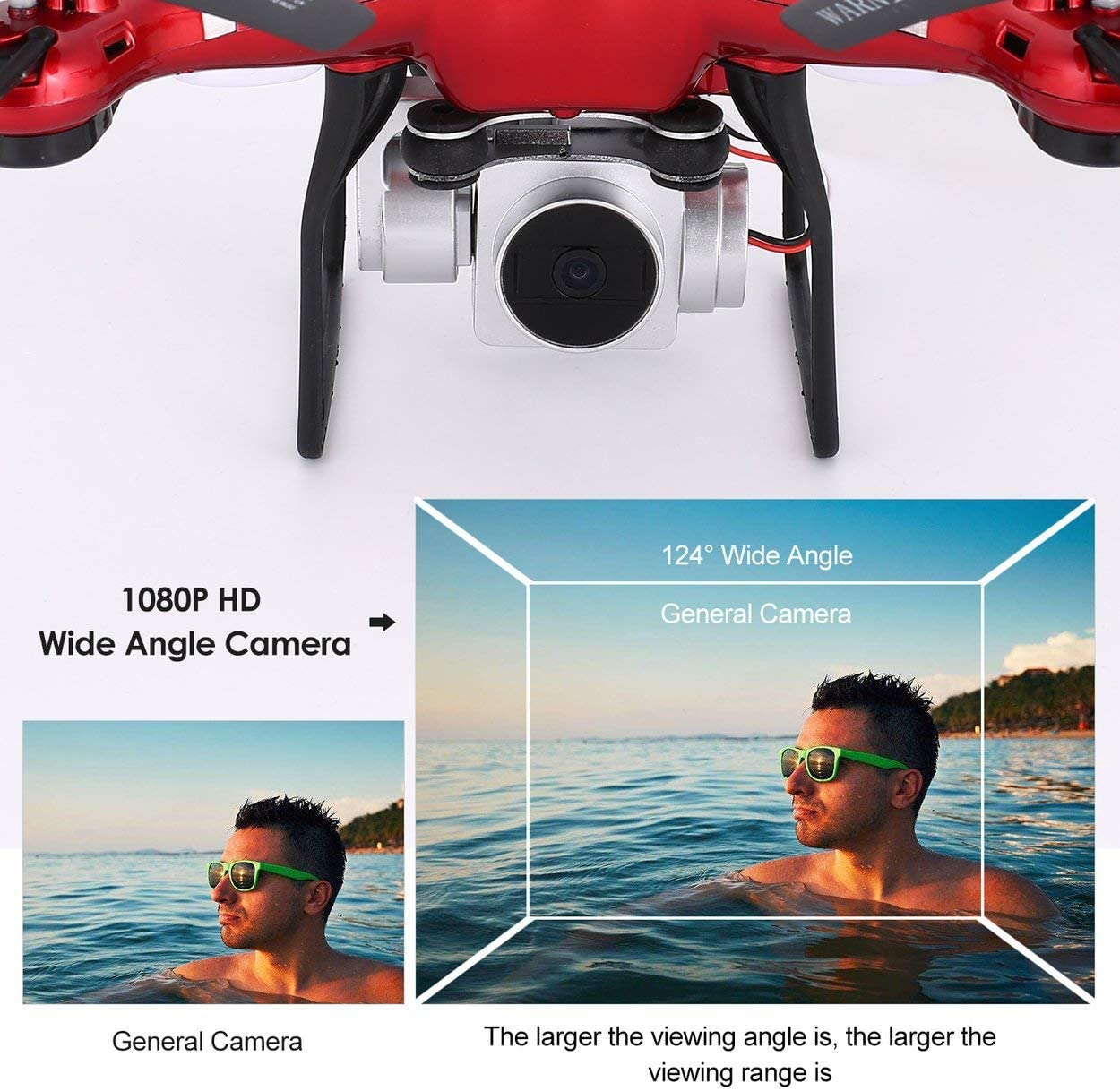 Adjustable Wide Angle WiFi HD Camera Live Video Altitude Hold Headless Mode FPV RC Drones 2.4G Quadcopter with 1080P