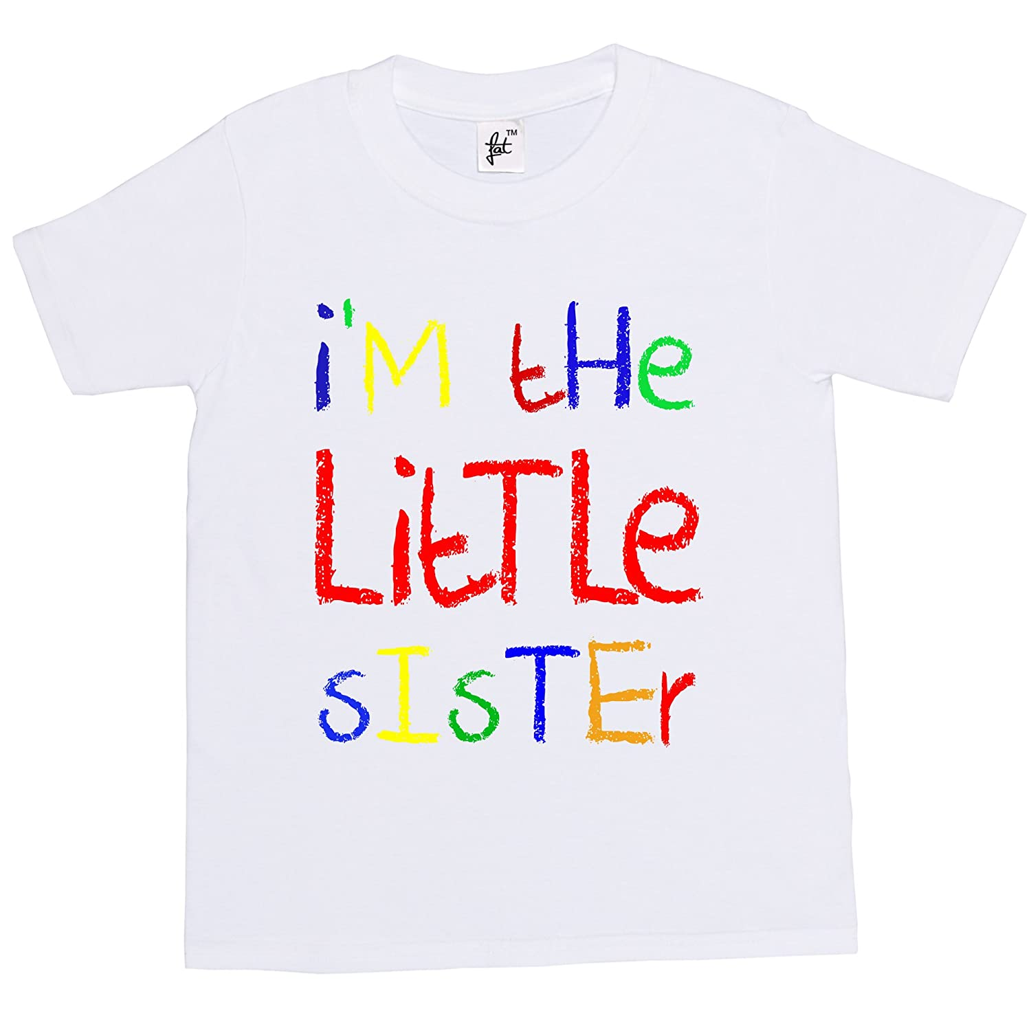 3979d414 I'm The Little Sister Funny Cool Gift Kids Boy Girl Cotton Short Sleeve T- Shirt - Sizes 1 Year Old - 14 Year Old: Amazon.co.uk: Clothing