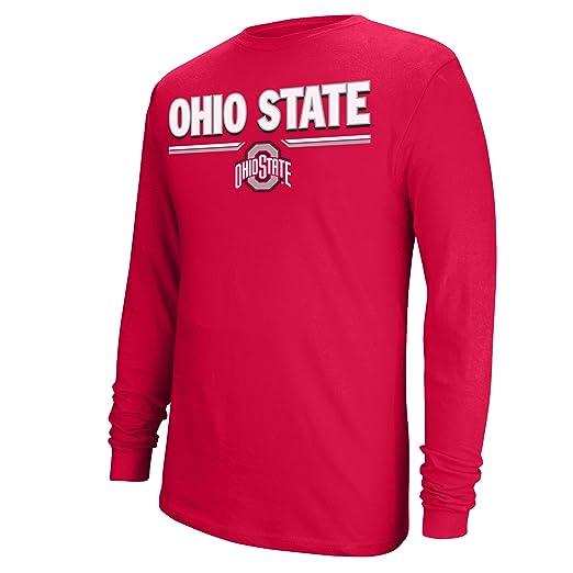 brand new e8543 82f28 J America NCAA Ohio State Buckeyes Men s College Long Sleeve Choice Tee,  Red, Large