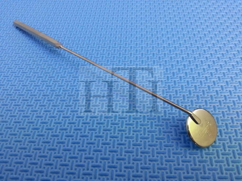 NEW LARYNGEAL BOILABLE HYGIENE DENTAL MIRRORS 24MM DIAMETER WITH HANDLE (HTI BRAND) by HTI BRAND (Image #2)