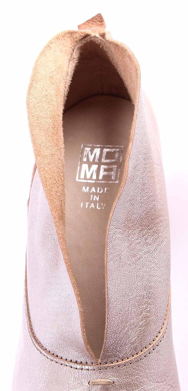 MOMA Damen Damen Damen Pumps Stiefeletten Schuhe 44502-9D Gange Metal Argen Leder Silber New f950ff