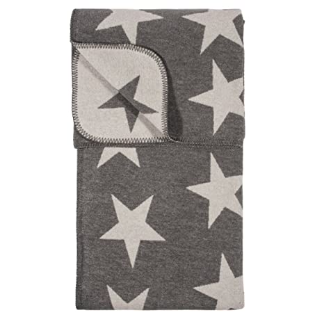 Decke Stars.Pad Decke Kuscheldecke Wohndecke Stars Grey Grau 150 X