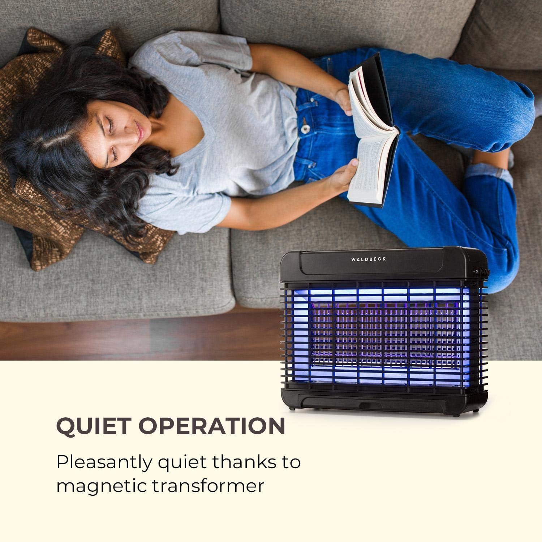 13W, Effet 300 m/², LEDs, LongLife Technology, transformateur magn/étique, Attraction360 Concept Noir Waldbeck Mosquito Ex 9500 Chasse-moustiques /à LEDs Anti-moustiques /à UV