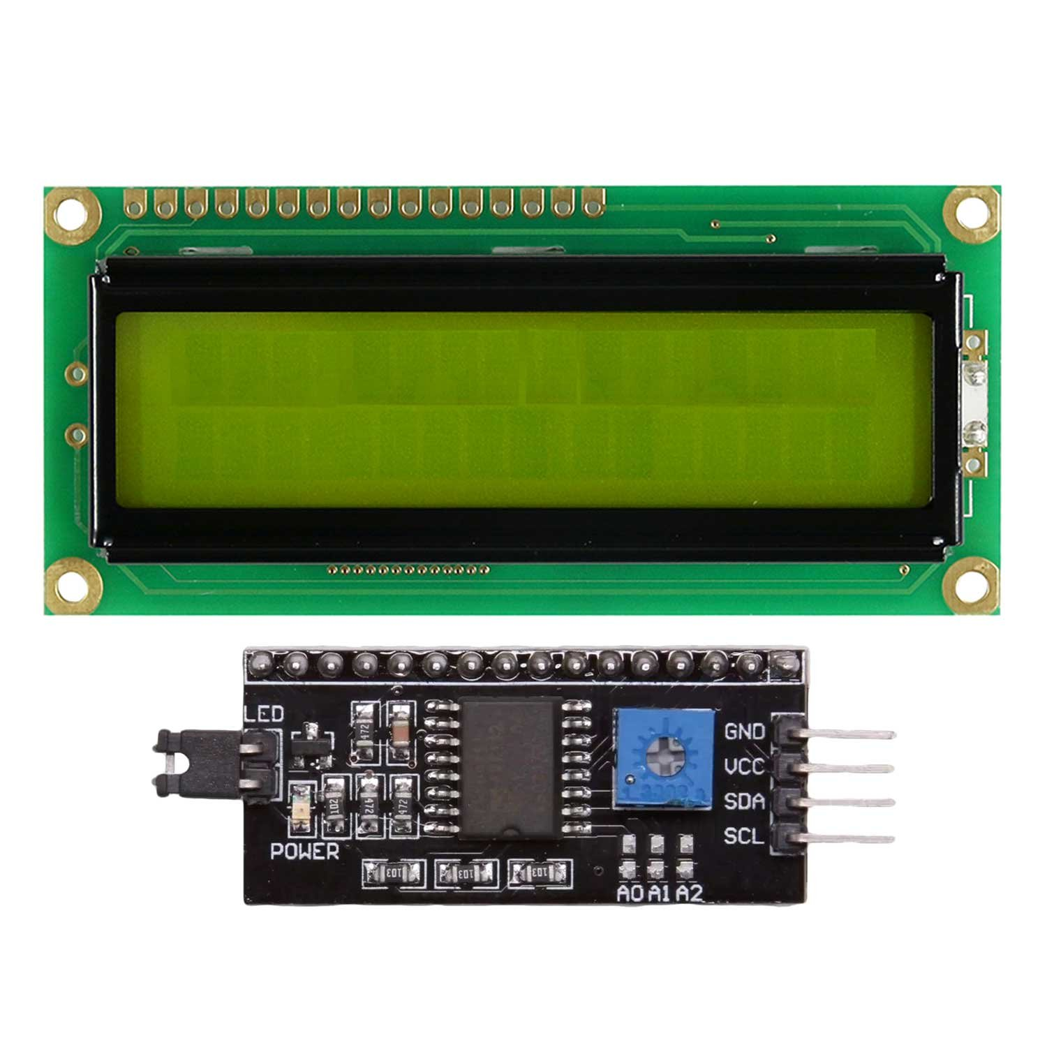 AdraXx LCD1602-1602-16x2-LCD-Display-with-IIC-I2C-Serial-Interface-Adapter-Module for Arduino: Amazon.in: Industrial & Scientific