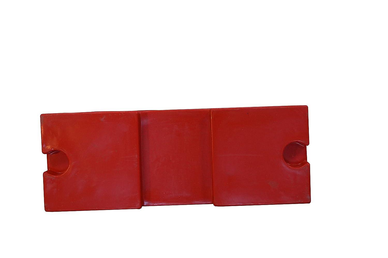 Rot Fahrbahnteiler 500 mm