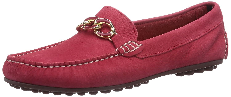 Tommy Hilfiger KENDALL 8N - mocasines de cuero mujer, color rojo, talla 38: Amazon.es: Zapatos y complementos