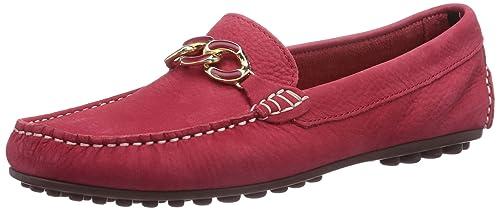 2f30e27d6a0 Tommy Hilfiger KENDALL 8N - mocasines de cuero mujer, color rojo, talla 38:  Amazon.es: Zapatos y complementos