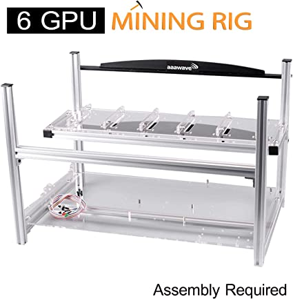 Open Box AAAwave 14GPU Open Air Mining Rig Case Frame BTC Ethereum Coin