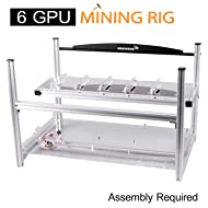 AAAwave - 6 GPU Stackable Aluminum Mining Frame Rig Case with Fan Mounts Bitcoin Ethereum Zcash Coin Mining Chassis