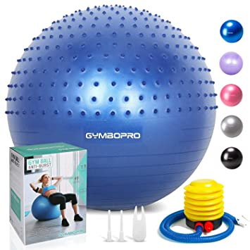 GYMBOPRO Fitness Pelota de Ejercicio - Bola Suiza con Bomba de ...