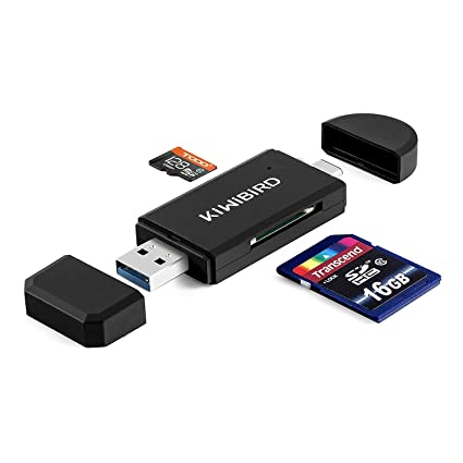 KiWiBiRD USB 3.1 Tipo C y USB 3.0 Lector de trajetas 8 en 1 para ...