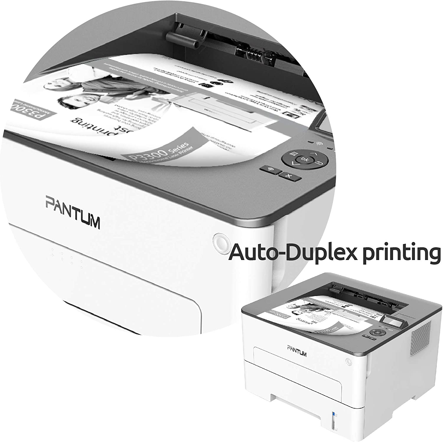 Monochrome Laser Printer Wireless Two-Sided Printing for School and Home Office Pantum L2300DW(V2U04A): Electronics