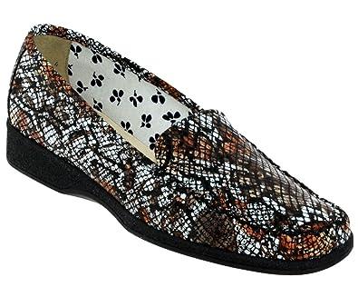 Marco ANAEL Marron/blanc cuir - Chaussures Mocassins Femme