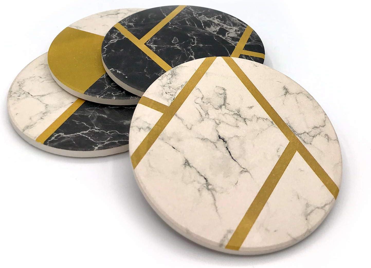 Concrete Decor Gold Painted Concrete Set Of 4 Hexagon Coasters Marble coasters Grey Coasters. Cement coasters Concrete coasters