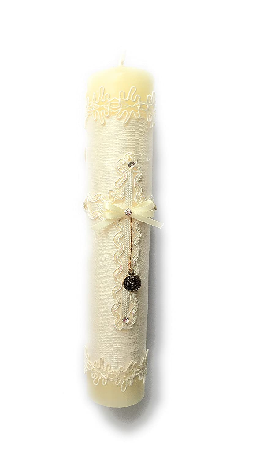 Amazon.com : Handmade Catholic Baptism Kit including Rosary, Towel, Candle and Shell Kit De Bautizo Religious Gift (Beige) : Baby