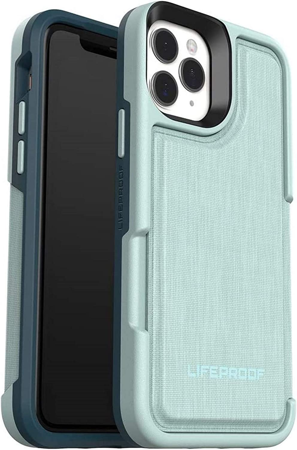 LifeProof FLIP Series Wallet Case for iPhone 11 Pro - Non Retail Packaging - Water Lily (SURF Spray/Dark Jade)