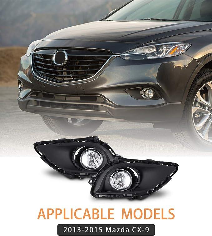 6X LED Headlights High//Low Beam+Fog lights 6000K White For Mazda CX-9 2013-2015