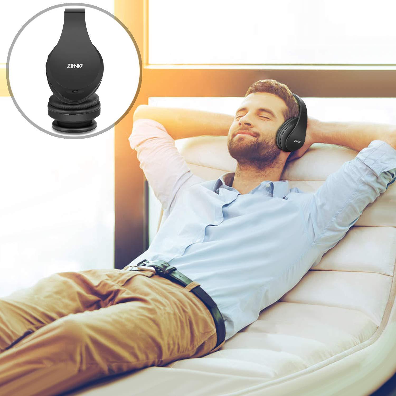 Bluetooth Over Ear Kopfh/örer Zihnic Wireless Faltbares Stereo Headset Rotgold Kabelloser Schalld/ämmung Kopfh/örer mit Eingebautem MikrofonMicro SD//TF FM,Over Ear Headphones f/ür Phones//IPad//PC,