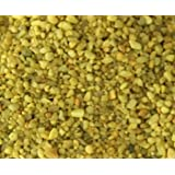 "Safe & Non-Toxic {Small Size, 0.12"" to 0.25"" Inch} 5 Pound Bag of ""Acrylic Coated"" Gravel & Pebbles Decor for Freshwater Aquarium w/ Vibrant Daffodil Inspired Bright Sunny Style [Yellow]"