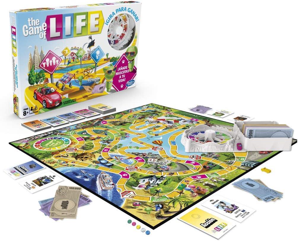 Hasbro Gaming Juego The Game Of Life, Juego De Mesa Para La Familia De 2 A 4 Jugadores, Hasbro E4304105: Amazon.es: Juguetes y juegos