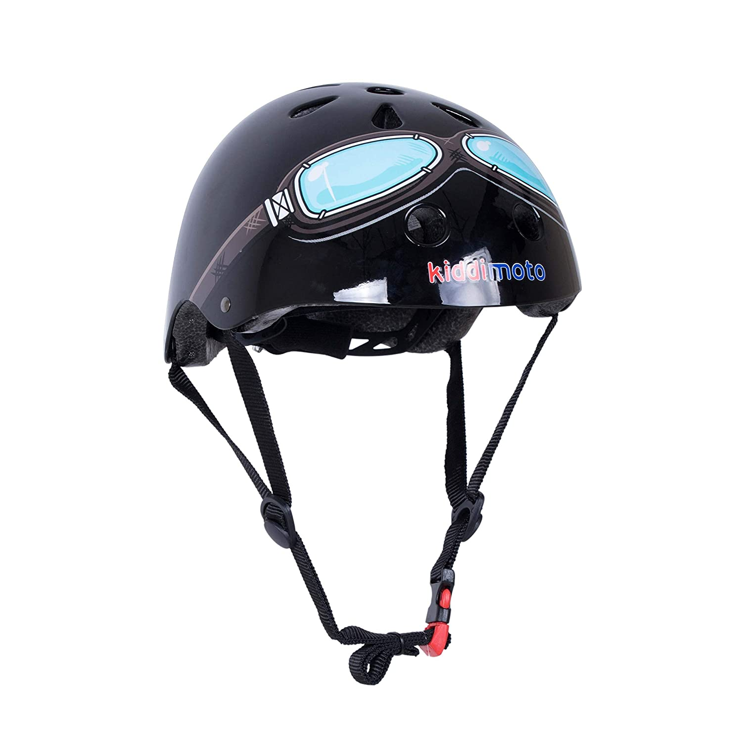 KIDDIMOTO Casco Bicicleta o Patinete Glossy Black Small ...