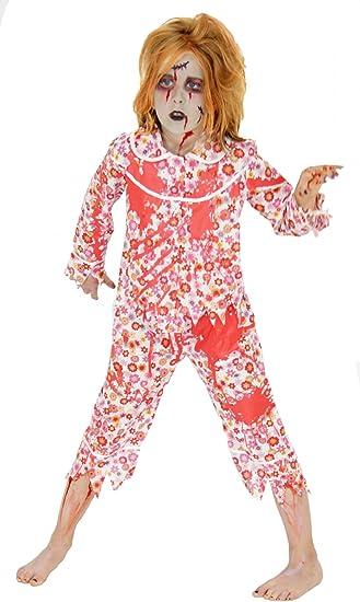 FOXXEO Zombie Disfraz de Halloween para niños Pijama Sangriento ...