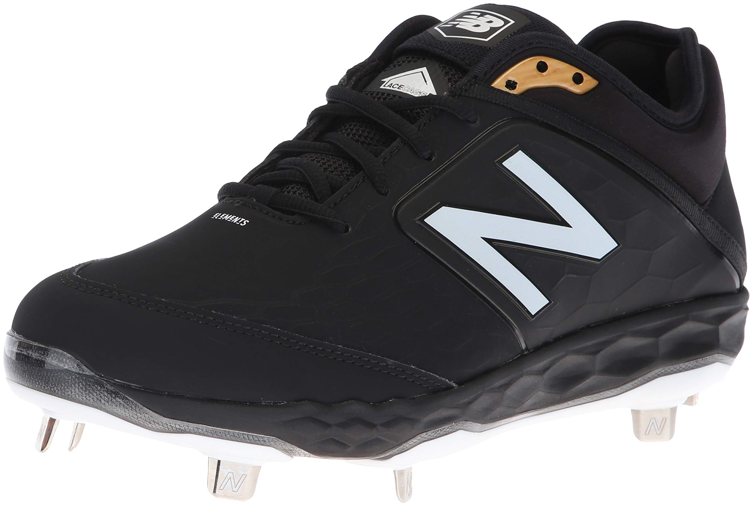 New Balance Men's 3000v4 Baseball Shoe, Black, 5 2E US
