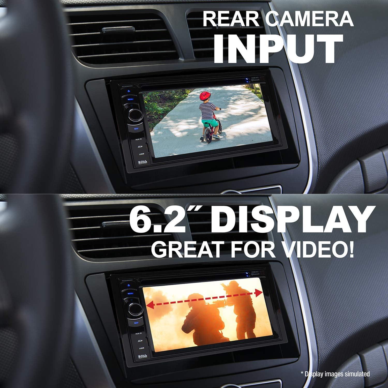 BOSS Audio DVD estéreo para automóvil, Bluetooth con navegador y audio Hi-Res, Negro
