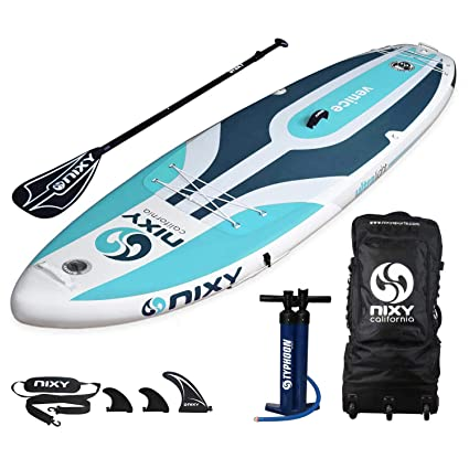 NIXY Venice SUP Inflatable Stand Up Paddle Board. Yoga & Beginner Lightweight iSUP built with Dual Layer Fusion Dropstitch. All Accessories included ...
