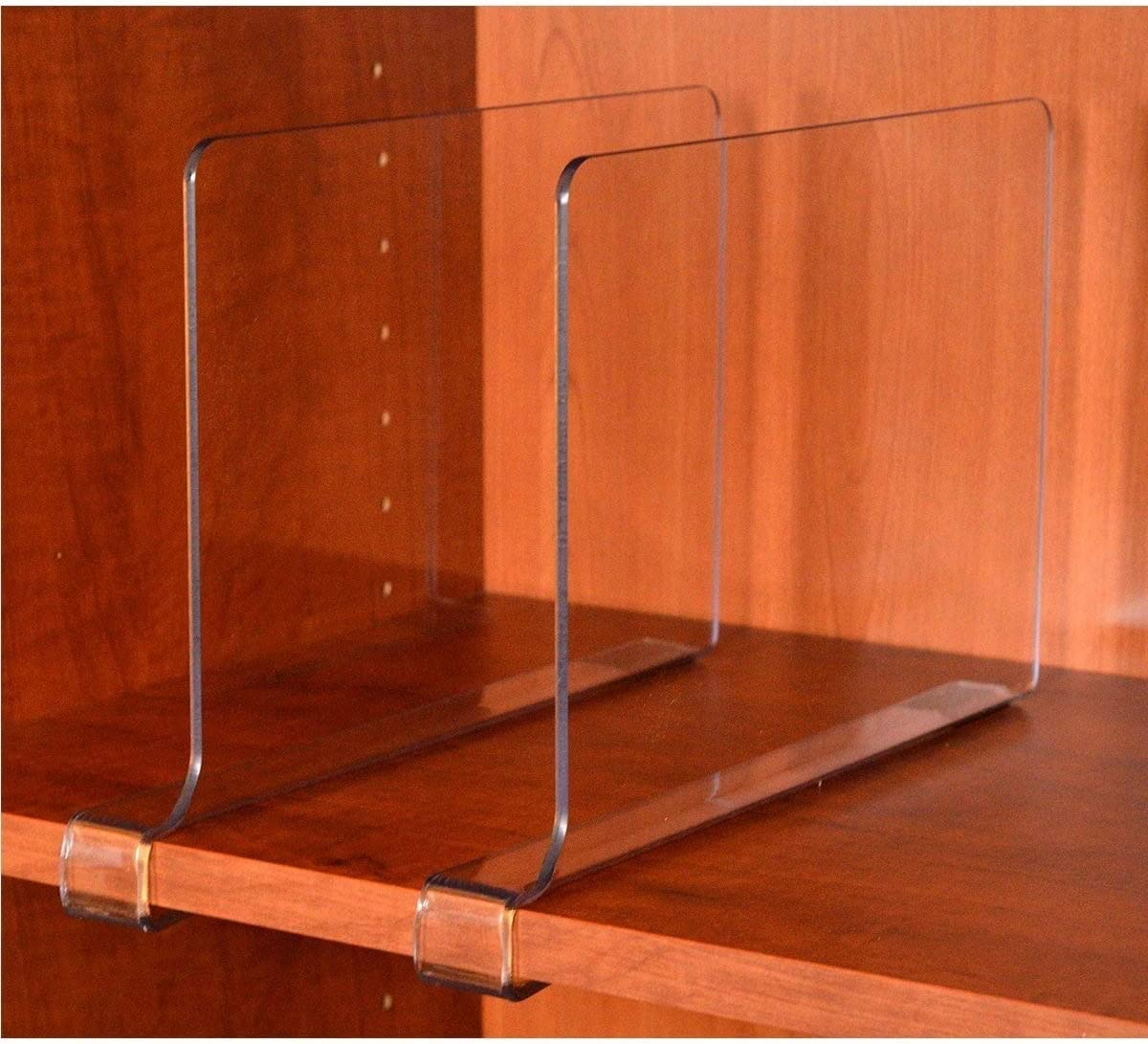 StorageAid CM-3164 4 Pack Acrylic Shelf Dividers 4 Count Clear