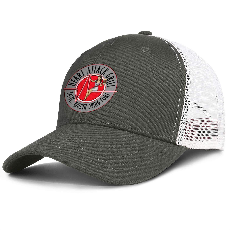Wudo Unisex Heart Attack Grill Hat Pretty Cowboy Hat Baseball Cap Adjustable Cap by Wudo