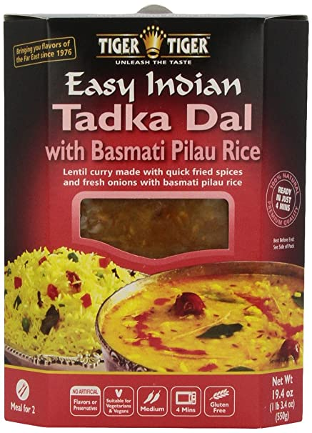 Amazon tiger tiger easy indian heat eat tadka dal with amazon tiger tiger easy indian heat eat tadka dal with basmati pilau rice 194 ounce boxes pack of 6 indian food grocery gourmet food forumfinder Gallery