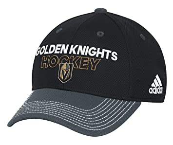 reputable site d183d 93446 spain las vegas golden knights adidas nhl authentic locker room structured  flex hat baseball caps amazon