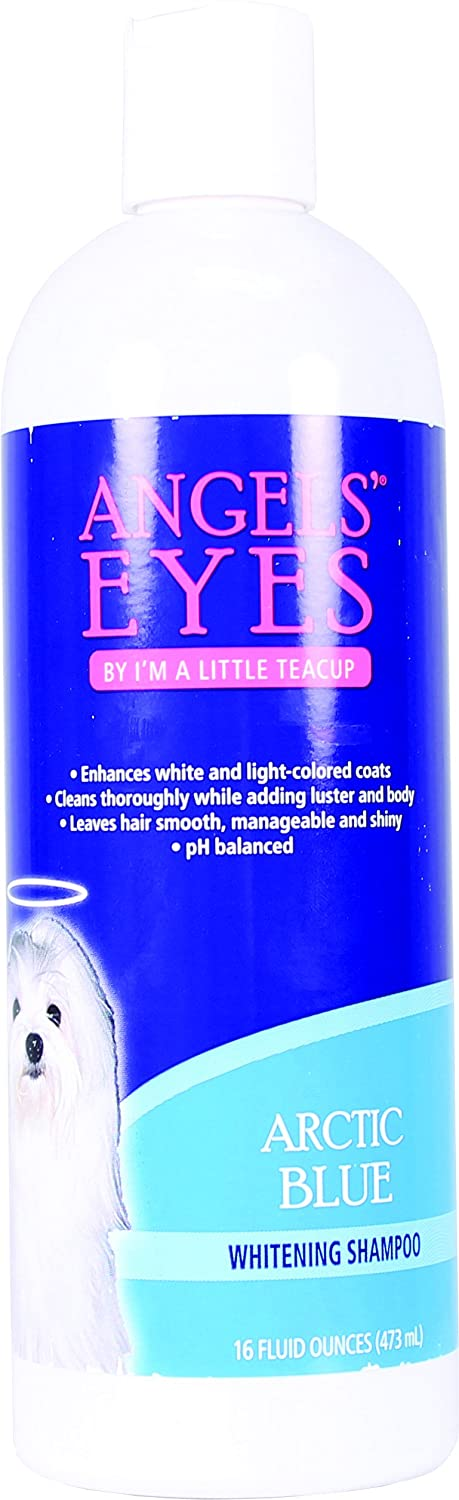 ANGELS' EYES Whitening Pet Shampoo, 16-Ounce, Arctic Blue AEABS16