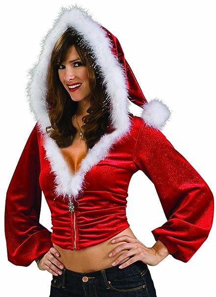 Amazon.com: Womens Sexy Navidad Señora Santa Claus felpa ...