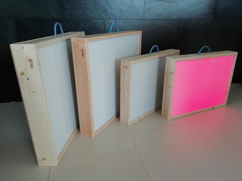 Mesa de Luz-Reggio Emília-Caja de Luz montessori-Medidas:62X52X8 ...