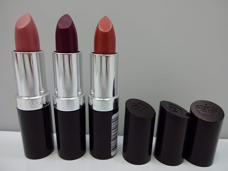 Rimmel London Lasting Finish Lipstick 3 Pack 242 Fudge Brownie 120 Cutting Edge 070 Airy Fairy Amazon Co Uk Beauty