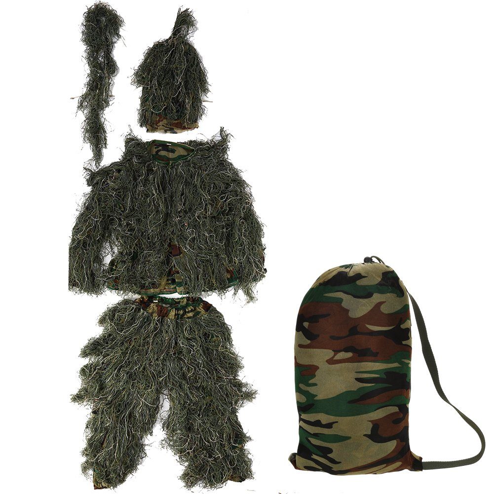 c7390fcb6c0a8 Ghillie Suit,Adult Camouflage Hunting Clothing Camo Suit 3D Leaves  Birdwatching Woodland Birding Clothes for Jungle Hunting,Shooting,Airsoft,Wildlife  ...